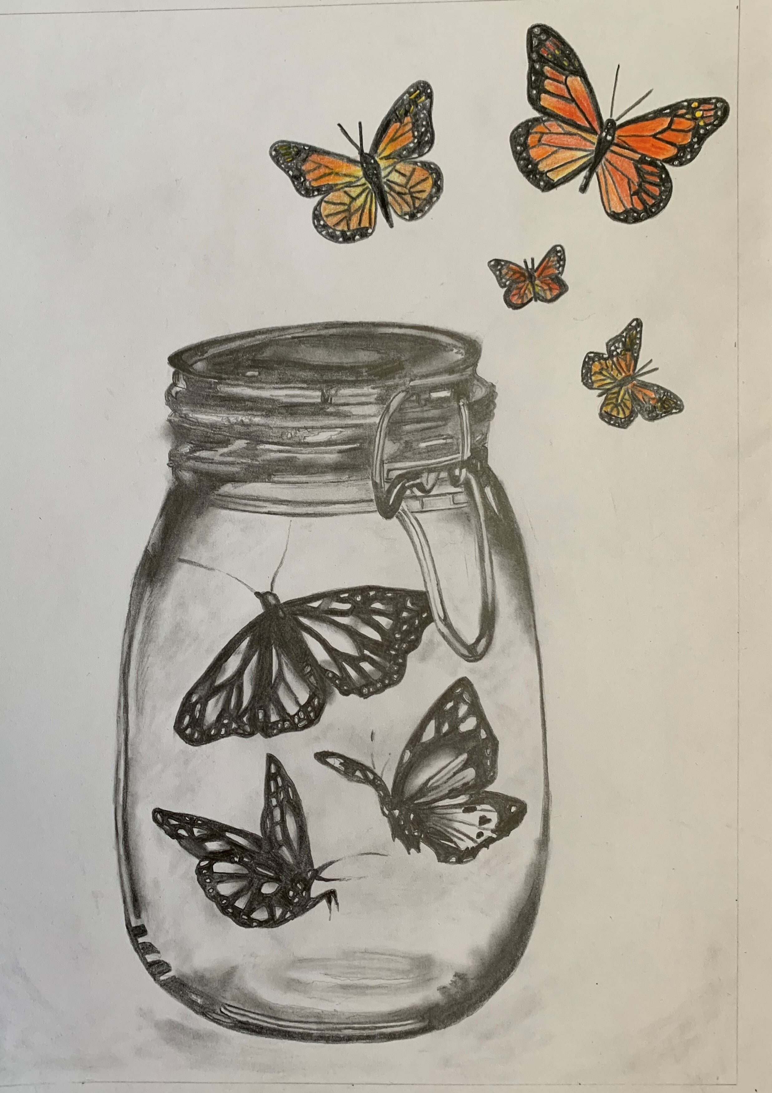 wed pm Beth's buttefly jar